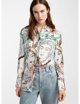 Painted Ladies Print Blouse by 3.1 Phillip Lim