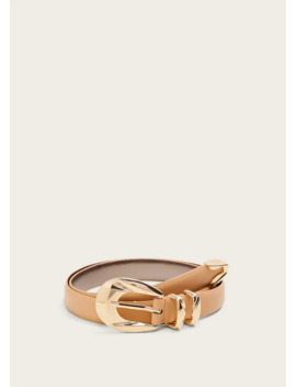Skinny Faux Leather Belt by Mango