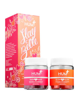 Slay Belle   Vegan Gummy Set For Stronger Hair And Glowing Skin by Hum Nutrition