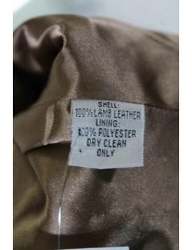 Marc Jacobs Womens Leather Button Down Rabbit Fur Trim Jacket Brown Size 4 by Marc Jacobs