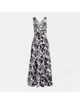 Tiered Sleeveless Maxi Dress In Ratti® Scarf Paisley by Tiered Sleeveless Maxi Dress In Ratti