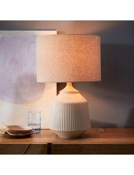 Roar + Rabbit Ceramic Table Lamp, White, Tall by West Elm