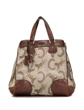 Horse Carriage Pattern Tote by Céline Pre Owned