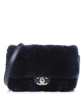 Chanel Orylag Lambskin Mini Rectangular Flap Blue by Chanel