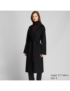 Women Wool Blend Wrap Coat (6) by Uniqlo