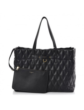 Givenchy Rubber Effect Canvas Quilted Duo Shopper Tote Black by Givenchy