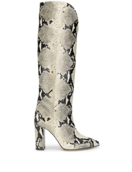 Snakeskin Knee High Boots by Paris Texas