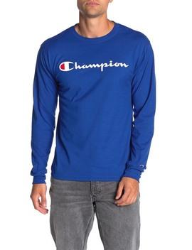 Classic Logo Print Long Sleeve T Shirt by Champion