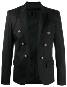 Open Buttoned Blazer by Balmain