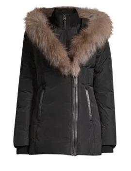 Adali X Fox Fur Collar Down Coat by Mackage