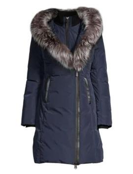 Kay Fox Fur Trim Down Jacket by Mackage