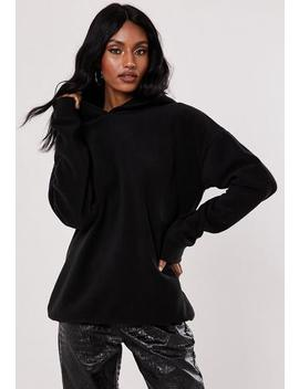 Tall Black Fleece Hoodie by Missguided