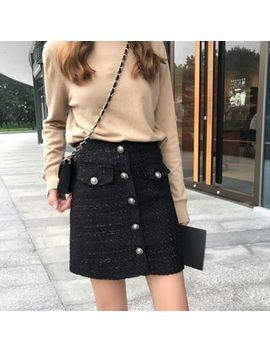 Ogawa   High Waist Tweed Skirt by Ogawa