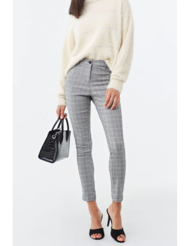 Skinny Glen Plaid Pants by Forever 21