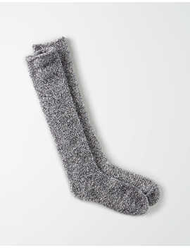 Aeo Fuzzy Sherpa Marled Knee High Sock by American Eagle Outfitters
