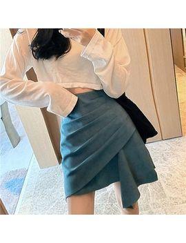 Ogawa   High Waist Plain Asymmetric Skirt by Ogawa
