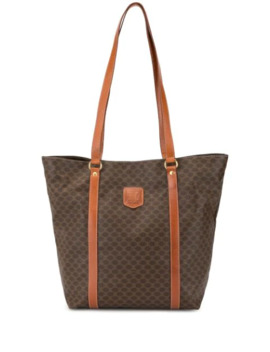 Macadam Pattern Shoulder Tote Bag by Céline Pre Owned