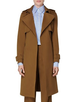 Dwight Stretch Cotton Trench Coat by Suistudio