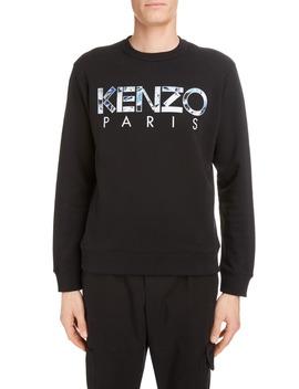 Paris Logo Appliqué Crewneck Sweatshirt by Kenzo