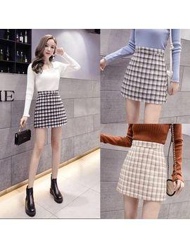 Ogawa   High Waist Plaid Skirt by Ogawa