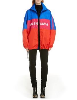 Colorblock Ripstop Windbreaker Jacket by Balenciaga