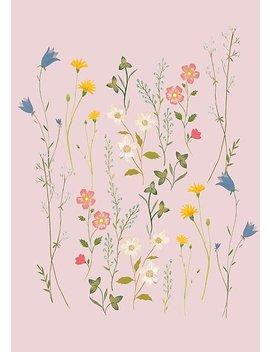 Dreamy Floral Pattern Poster by Iisa Mönttinen