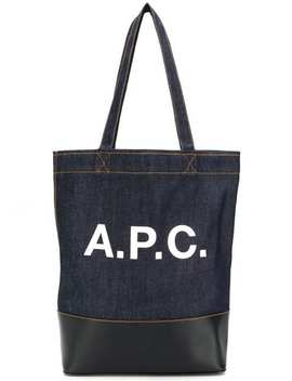 Logo印花牛仔托特包 by A.P.C.