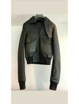 Rick Owens Drkshdw Leather Jacket Clothing Black 48 Bnwt by Ebay Seller