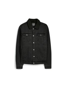 Black Fleece Denim Jacket by Primark
