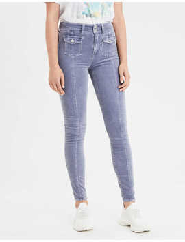 Ae Super High Waisted Corduroy Jegging Crop by American Eagle Outfitters