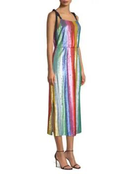 Tessa Sequin Stripe Dress by Rixo