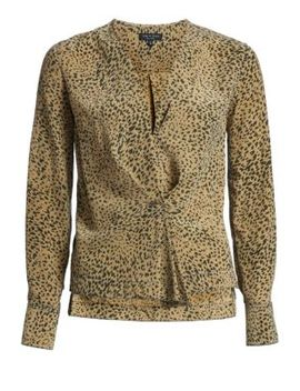 Shields Leopard Print Blouse by Rag & Bone