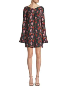 Floral Bell Sleeve Mini Dress by Mother Of Pearl