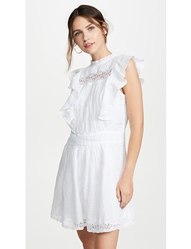 Lace Pintuck Dress by Frame