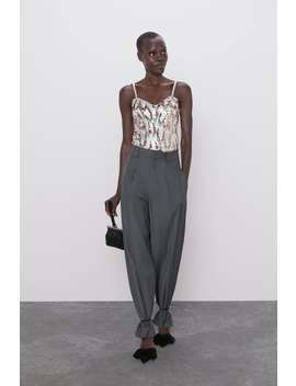 Strappy Sequin Bodysuit by Zara