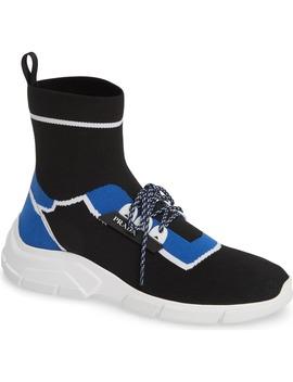 High Top Sock Sneaker by Prada