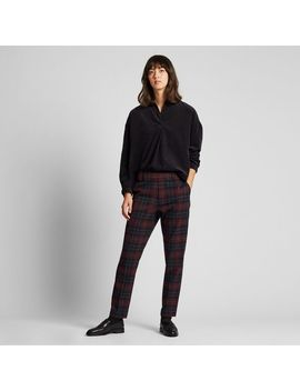 Women Ezy Ankle Pants (Brushed/Check) by Uniqlo