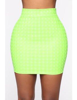 Side Eye Mini Skirt   Neon Green by Fashion Nova