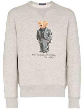Teddy Bear Print Sweatshirt by Polo Ralph Lauren