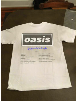 Rare Vintage Oasis T Shirt Definitely Maybe Liam Noel by Gildan