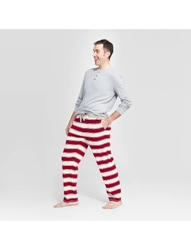 Burt's Bees Baby® Men's Organic Cotton Holiday Rugby Striped Pajama Set   Red by Shop This Collection