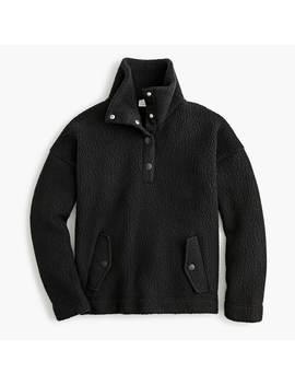 Snap Collar Sherpa Sweatshirt In Polartec® Fleece by Snap Collar Sherpa Sweatshirt In Polartec