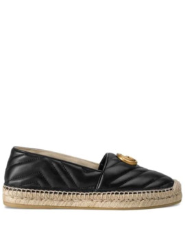 Leather Espadrille With Double G by Gucci