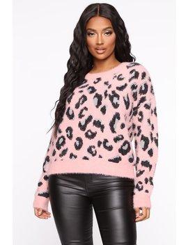 Won't Break Your Heart Leopard Sweater   Pink/Combo by Fashion Nova