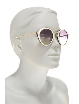 Phantos 53mm Round Cat Eye Sunglasses by Prada