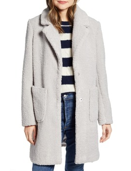 Notch Collar Faux Shearling Coat by French Connection