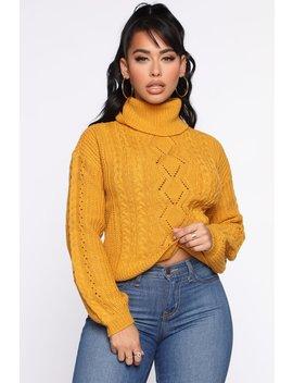 Keep Em Coming Turtleneck Sweater   Mustard by Fashion Nova