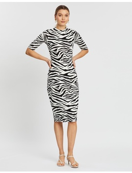 Delora Fitted Mock Neck Dress by Alice & Olivia