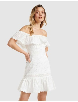 Elle Broderie Off Shoulder Dress by Forever New