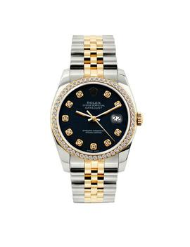 Navy Dial 1.5ct 36mm Men's Datejust 2 Tone With Appraisal Watch by Rolex